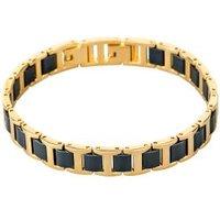 Alexander Milton Armband, gold/blau