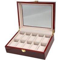 Uhrenbox für 10 Uhren, Mahagoniholz-Optik