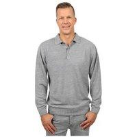 Cashmerelike Herren-Pullover Polokragen, grau