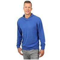 Cashmerelike Herren-Pullover Schalkragen blau