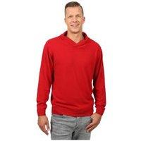 Cashmerelike Herren-Pullover Schalkragen rot