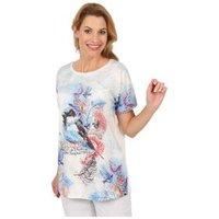 Damen-Shirt 'Cute Bird' weiß/multicolor