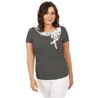 Damen-Shirt 'Chic in Stripe' schwarz/weiß