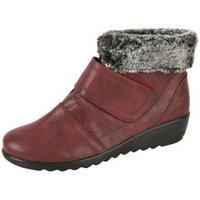 Cushion-walk® Keil-Stiefeletten burgund Fell