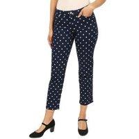 Jet-Line Damen-Jeans 'Denim Dots' darkblue/blue
