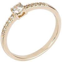Ring 585 Gelbgold mit Brillanten Champagner