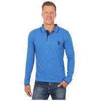 U.S. POLO ASSN. Herren-Poloshirt, Langarm blau