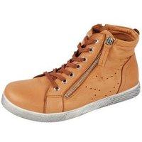 Andrea Conti Leder High Sneaker cognac