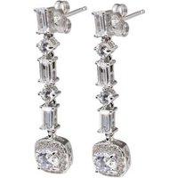 Ohrhänger 925 Sterling Silber rhodiniert, Zirkonia