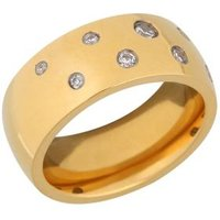 Ring Titan vergoldet, Zirkonia