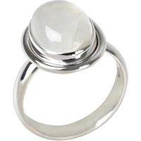 Ring 925 Sterling Silber Regenbogen-Mondstein