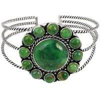 Armreif 925 Silber Türkis grün stabilisiert