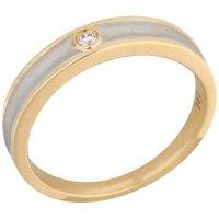 Ring 950 Platin Brillant + 18 Karat Gold
