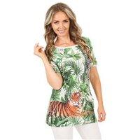 BRILLIANTSHIRTS Shirt 'Jungle Fantasy' multicolor