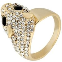 Ring goldfarben mit Swarovski Elements Leo