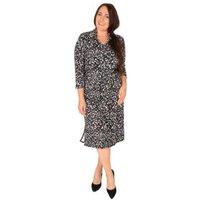 CANDY CURVES Kleid schwarz/grau/weiß