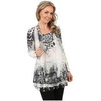 VIVACE  2in1 Shirt 'Praiano' grau/weiß/schwarz