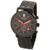DETOMASO Herren Chronograph Milano XL schwarz/rot