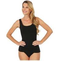 Damen-Baumwoll-Trägerhemd schwarz