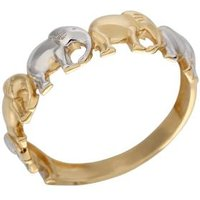 Ring Elephant 585 Gelbgold bicolor