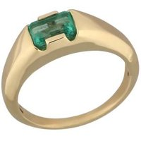 STAR Ring 585 Gelbgold Smaragd Kolumbien