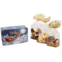 Weihnachtsdose mit Gebäck