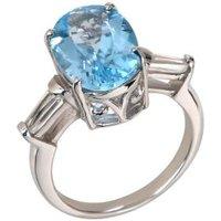 Ring 925 St. Silber Sky Blue Topas behandelt