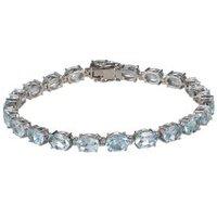 Armband 925 Sterling Silber Sky Blue Topas beh.