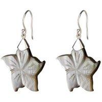 Ohrringe 925 St. Silber Black Shell Blume