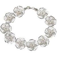 Creolen 925 Sterling Silber Blumen