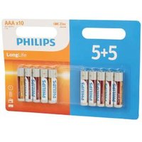 PHILIPS 5+5 Batterien AAA