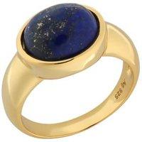 Ring 925 Sterling Silber vergoldet Lapislazuli