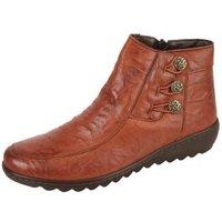 Dr. Feet Nappaleder Damen-Stiefelette, cognac