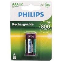 2x Philips Batterien AAA, wiederaufladbar