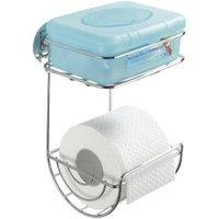 WENKO Turbo-Loc WC-Rollenhalter mit Ablage