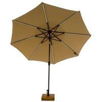 Sonnenschirm mit LED-Beleuchtung, Beige
