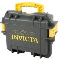 INVICTA Uhrenkoffer für 3 Uhren grau gelb