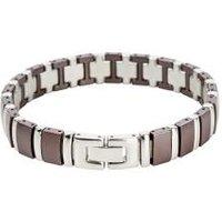 Alexander Milton Keramik-Armband, braun/silbern