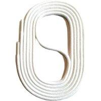Schnürsenkel rund gewachst 45-150cm, 3mm aus Baumwolle Schnürsenkel weiß Gr. 75