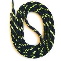 Schnürsenkel rund 75-200cm, 5mm aus Polyester Schnürsenkel schwarz/gelb Gr. 90