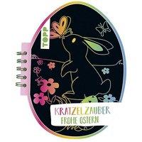 Buch - Kratzelzauber Ostern (Kratzelbuch in Ostereiform)