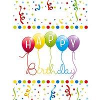 Mitgebseltüten Happy Birthday Streamers, 6 Stück hellgelb