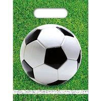 Mitgebseltüten Fußball Party, 6 Stück schwarz/weiß