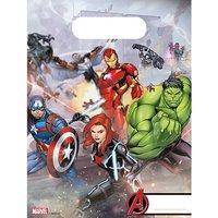 Mitgebseltüten Mighty Avengers, 6 Stück flieder/grau
