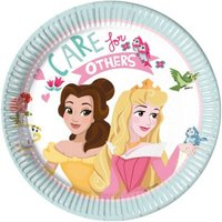 Pappteller Princess Dare To Dream 20 cm, 8 Stück pastell