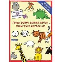 Buch - Punkt, Punkt, Komma Strich: Viele Tiere zeichne ich, mit großem Tiere-Poster