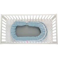 2in1 multifunktionales Babynest inkl. abnehmbares Rand - Junior sleepy-C, Babybett, mit Öko-Tex Standard 100 - Palisaden blau
