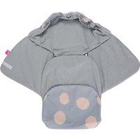 Einschlagdecke Babyschale und Kinderwagen aus Softshell, Baumwolle und Fleece - Kleckse apricot  Kinder