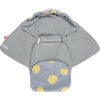 Einschlagdecke Babyschale und Kinderwagen aus Softshell, Baumwolle und Fleece - Kleckse gelb  Kinder