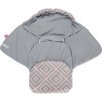 Einschlagdecke Babyschale und Kinderwagen aus Softshell, Baumwolle und Fleece - Quadrate apricot  Kinder